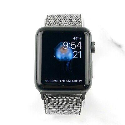 Apple Watch Series 3 42mm Space Gray Aluminium Olive Nylon Loop GPS