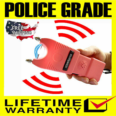 Terminator Max Power Police Grade Stun Gun Ear Piercing Siren Bright Flashlight