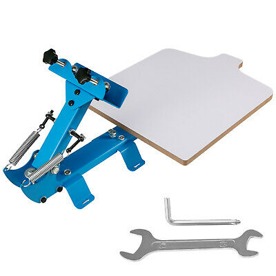 1 Color 1 Station Silk Screen Printing Machine Press Equipment T-shirt Diy