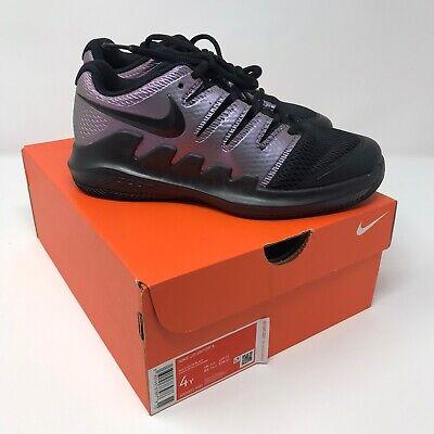 Nike JR VAPOR X Tennis Shoe Size 4Y multi-color/Black AR8851-900
