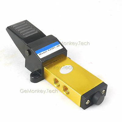 G 14 Air Pneumatic Foot Pedal Manual Valve 2 Position 5 Way K25r7-8