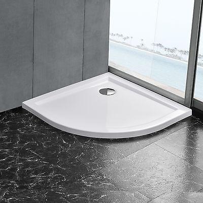 [neu.haus]® Duschwanne 80x80cm reinweiß Duschtasse Viertelkreis extra flach Bad