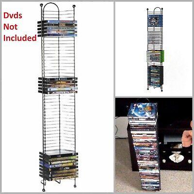 Dvd Tower Storage Media Rack Shelf Stand Organizer Multimedia Holder BluRay