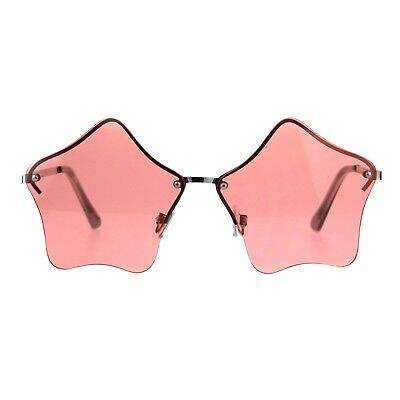Star Shape Sunglasses Glasses Cute Stars Lens Half Rimless Frame UV 400](Star Shaped Sunglasses)