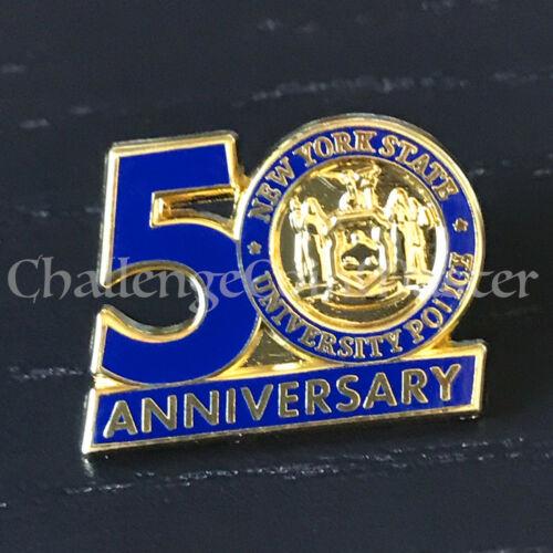 A3 New York State University Police Anniversary Lapel Pin Pinback