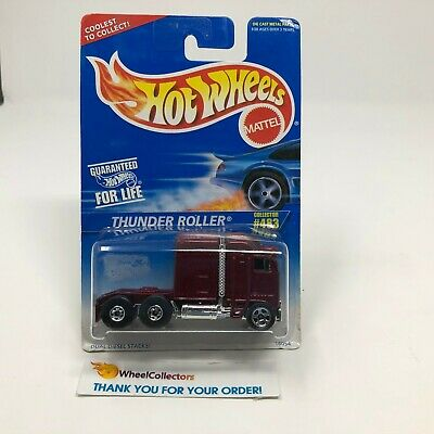 #9  Thunder Roller #483 * Burgundy * Hot Wheels Blue Card * JD24