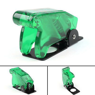 1pcs Toggle Switch Boot Plastic Safety Flip Cover Cap 12mm Clear Green Ue