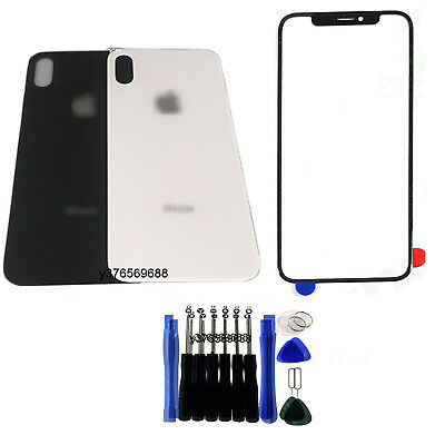 Front Screen Glass Back battery Housing Cover Door Replacement Kit For iPhone X