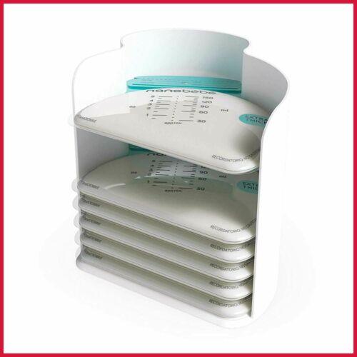 Breast Milk Storage Bags & Organizer - Preserves Nutrients - Fast Freeze & Thaw