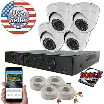 Sikker 4 Channel DVR Recorder indoor outdoor Surveillance