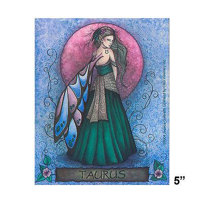 STICKER - Jessica Galbreth Fairy Taurus Horoscope Astrology Zodiac SD36