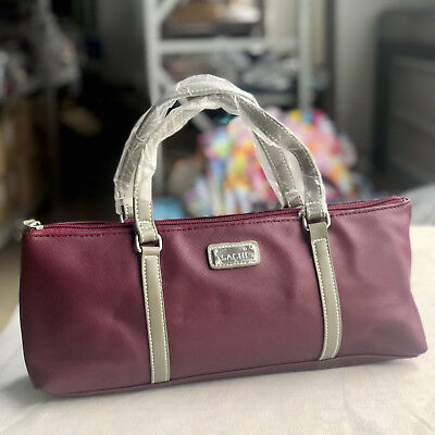 Sachi Insulated Wine Purse Cooler Tote Bag - Burgundy insulated -