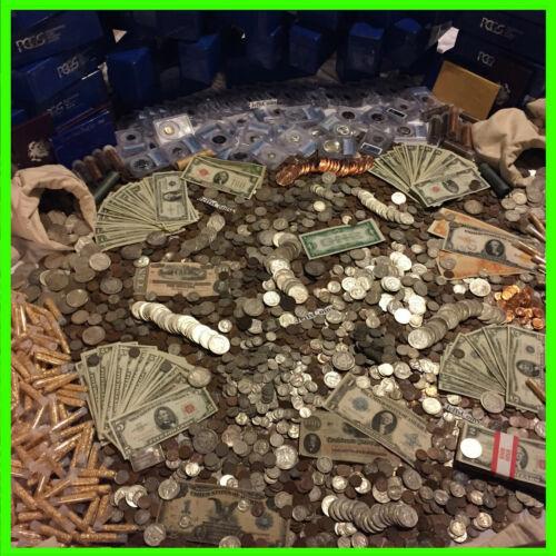 ✯ESTATE LOT OLD US COINS ✯GOLD .999 SILVER BARS BULLION✯ MONEY HOARD PCGS✯SALE✯