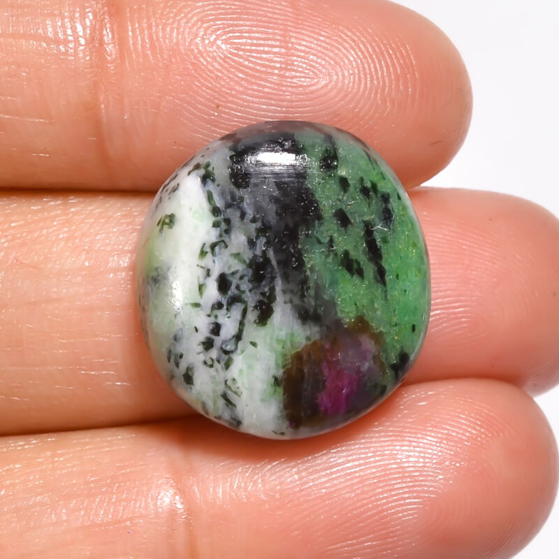 AAA+ Natural Ruby Zoisite Round Cabochon Gemstone 19.5 Ct. 19X19X6 mm EE-20244