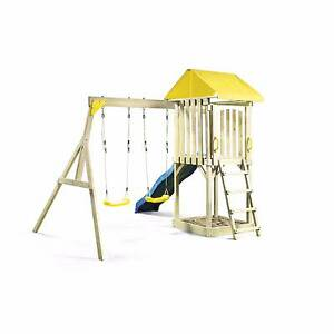 Swing Slippery Dip Sandpit 5.1x2.2x2.5m Hotham Play Set RRP$649 Medowie Port Stephens Area Preview