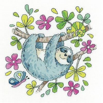 Heritage Crafts Cross Stitch Kit - Sloth
