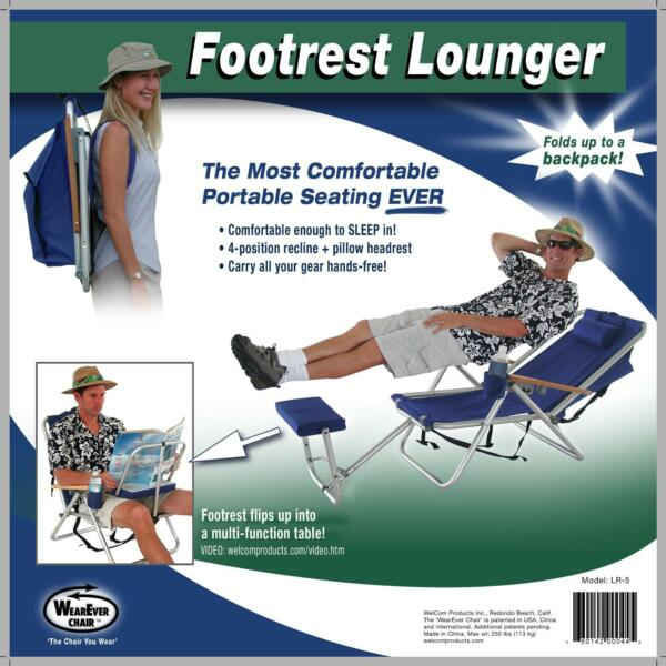 1 of 1  sc 1 st  Gumtree & Wearever Backpack Folding Beach Camp Deck Pool Lounger Chair ...