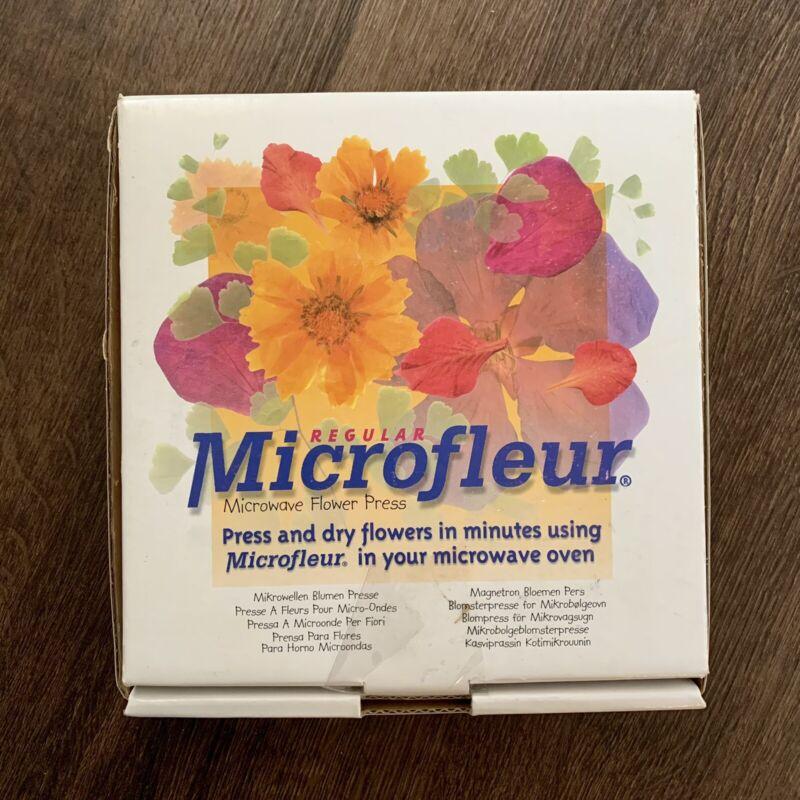 Microfleur  Microwave  Flower Press  w/ Box Instructions Press  SPRING Flowers