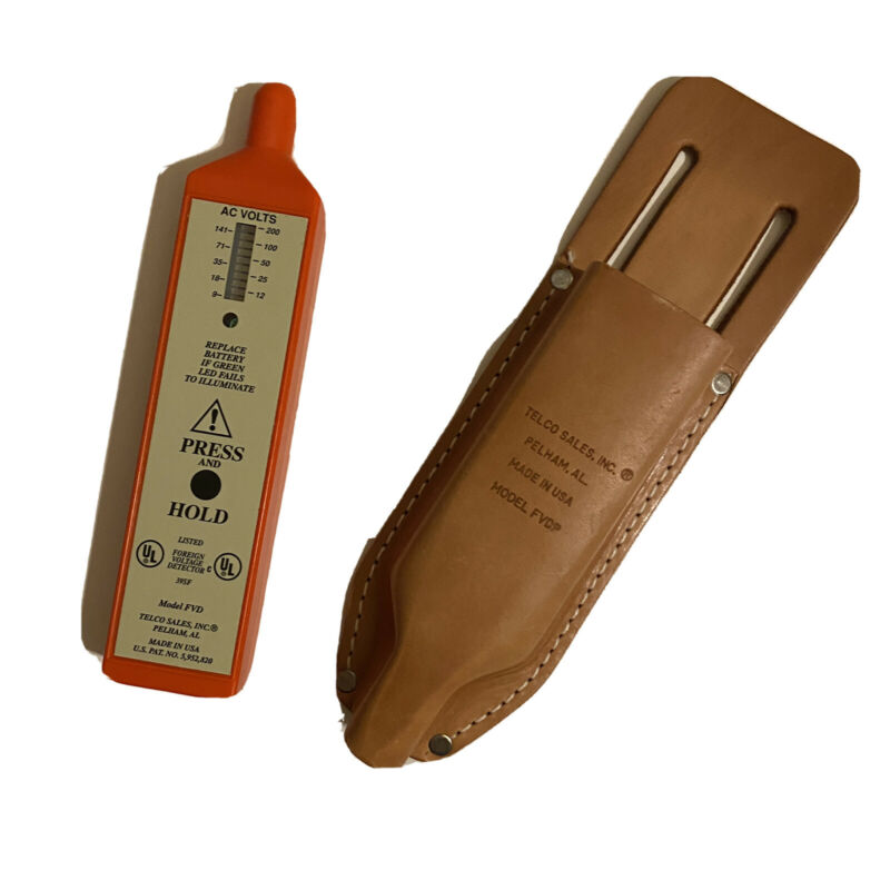 Telco FVDP Foreign Voltage Detector with Leather Pouch - NEW Made in USA