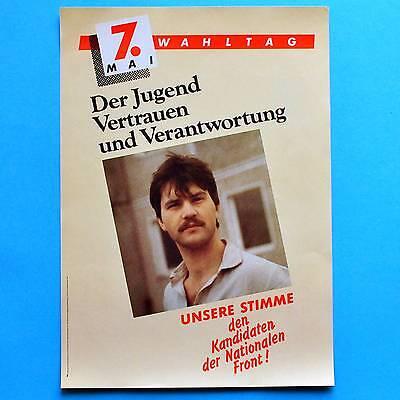 DDR Plakat Poster 123 | 7. Mai Wahltag Nationale ... 1989 | 40 x 29 cm Original online kaufen