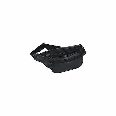 Unisex Original Bike Bag - Leather Black Waist Pack Fanny