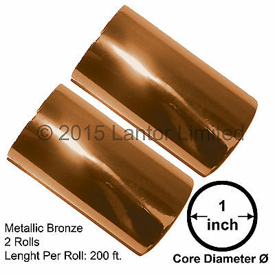 Hot Stamp Foil Stamping Tipper Kingsley 2 Rolls 3x200ft Bronze Bw88-990-s2-1