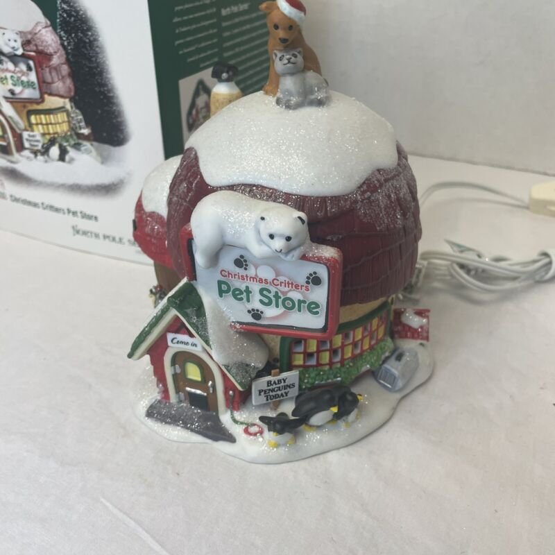 Department 56 North Pole Series Elfland Christmas Critters Pet Store #56.56772
