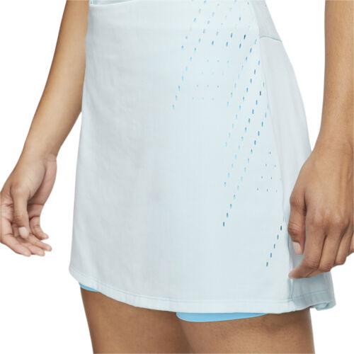 "NIKE Womens Dri-FIT Ace 15"" Golf Skort Skirt, Light Blue, PICK SIZE"