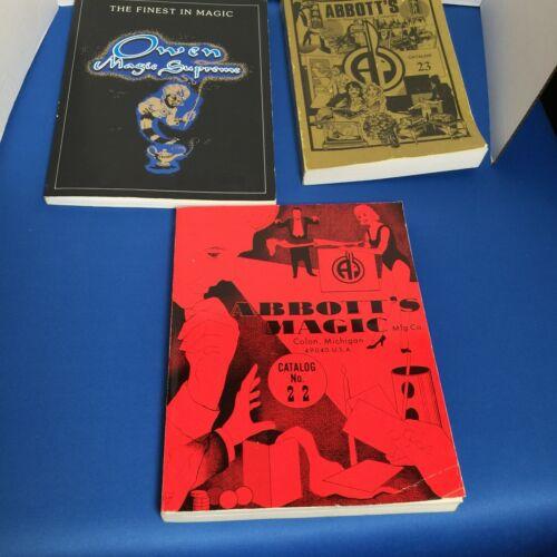 Magic Magicians catalogs RARE -- Owen Magic and two (2) ABBOTT Magic catalogs