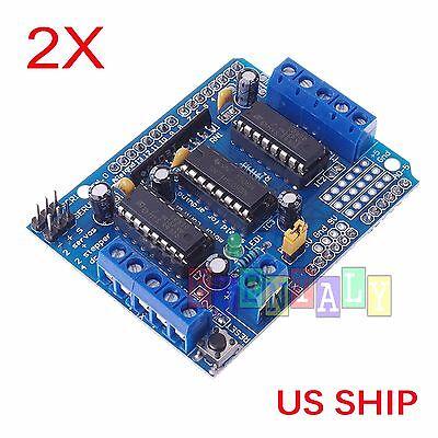 2x L293d Motor Drive Shield Expansion Board Arduino Duemilanove Mega Uno