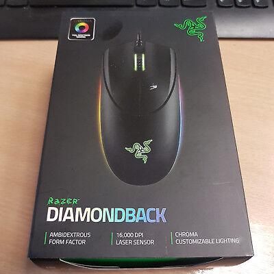 Razer Diamondback RGB Backlight Ambidextrous 16,000 DPI Sensor Gaming Mouse