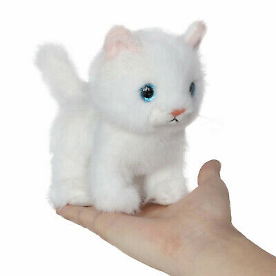 Fluffy Little Cat Stuffed Animal Toy 6 Inches(White) - By ICE KING BEAR ](Cat Stuffed Animal)