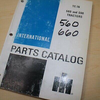 Ih International 560 660 Tractor Parts Manual Book Spare Catalog Farm List 1963