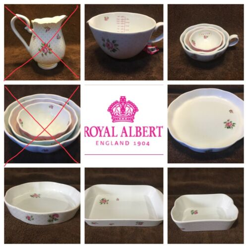 Royal Albert Country Rose Bliss Bake Ware Or Pitcher Your Choice of One