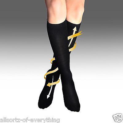 Mens Womens Flight Travel Socks Unisex Compression Anti Swelling DVT