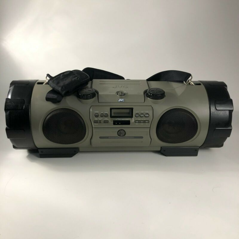 JVC Kaboom Boombox Stereo RV-B90 & Remote CD Radio Cassette AUX Tested