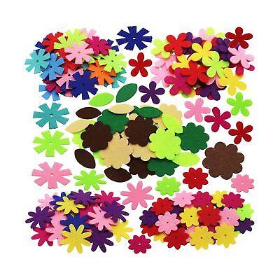 Felt Flowers Fabric Flower Embellishments, Assorted Color, 5 Shapes, 150 Pcs