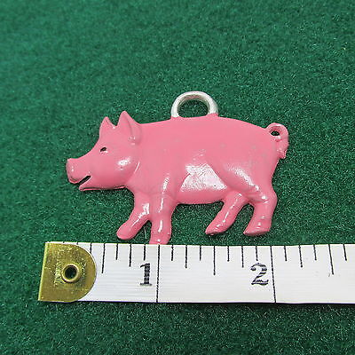 Pig Ornament - Pewter Hand Painted Painted Pewter Ornament