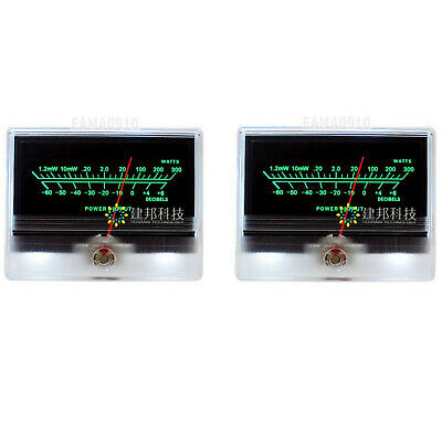 2pcs Tn-90a Vu Meter Db Level Header Audio Preamp Power Amp Chassis Backlight