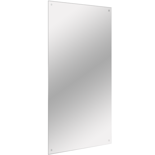 Frameless Rectangle Mirror | Includes Wall Hanging Fixings |