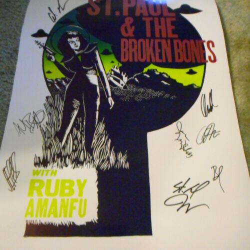 2017 St Paul & The Broken Bones  Autographed  Hatch Poster