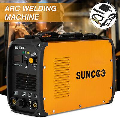 Portable Welding Machine Arc Welder Tig 200 Amp Tig-torch Stick W Led Display