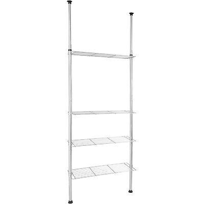 Telescopic Bathroom ShelvingShelf Storage Kitchen Rack Unit Organizer 4 Shelves