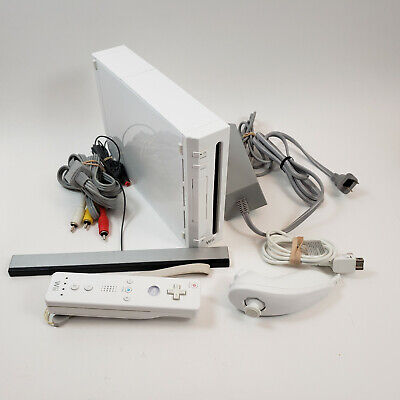 Nintendo Wii Console (White RVL-001 USA) Includes Remote Nunchuck and Cables