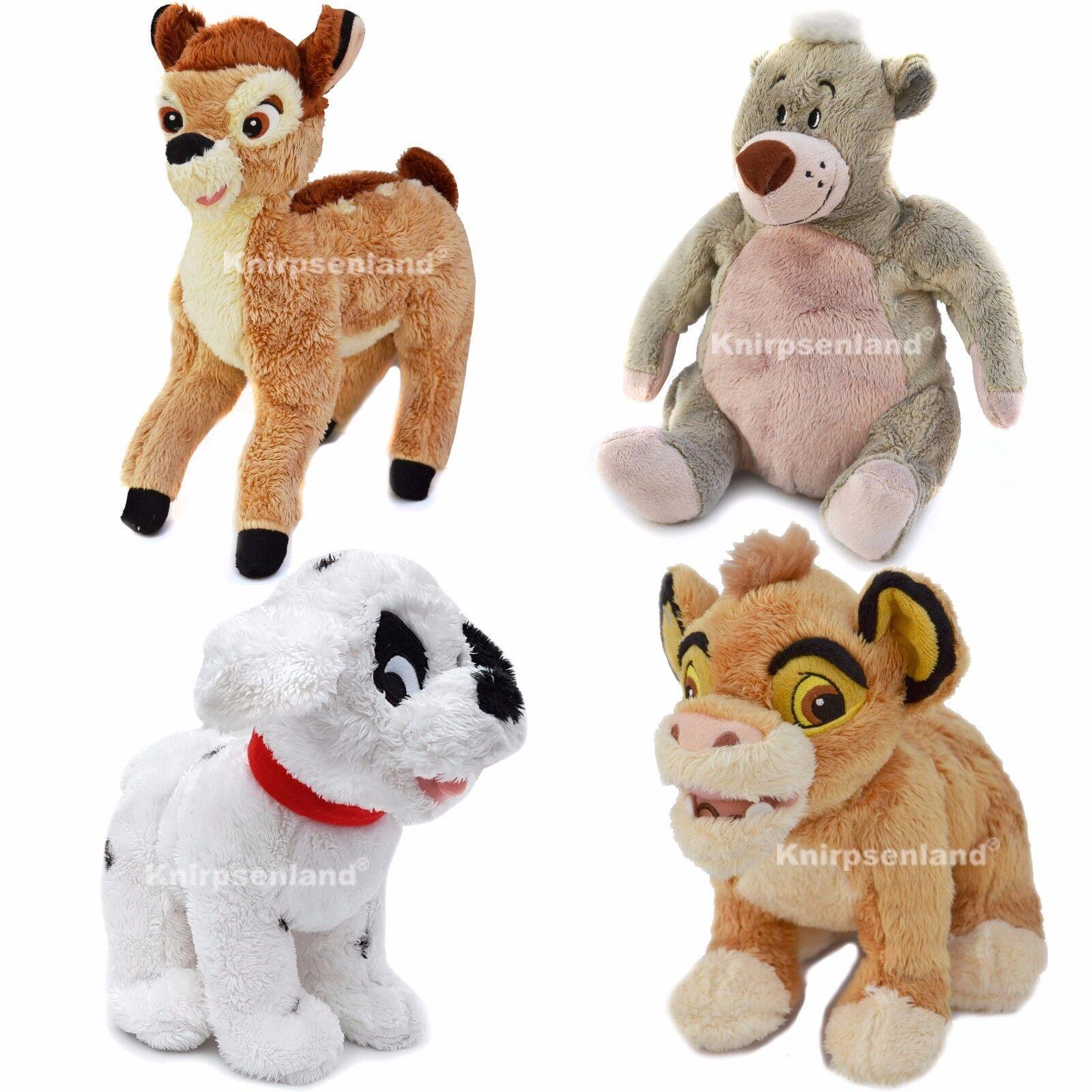 Disney Plüschfigur Kuscheltier Plüschtier Balu Kion Bambi 101 Dalmatiner Hund B