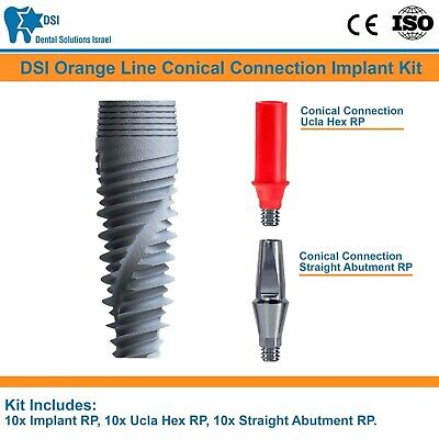 10x Dsi Dental Implant Conical Connection Nobel Active Abutment Ucla Rp Iso