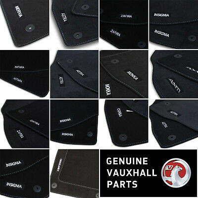 Car Parts - Genuine OE Vauxhall Velour Black Tailored Front/Rear Floor Car Mats