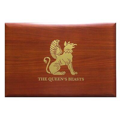 Queen's Beast Box Münzbox Kassette für 10x 10 Oz Silbermünzen Silber GB - HOLZ