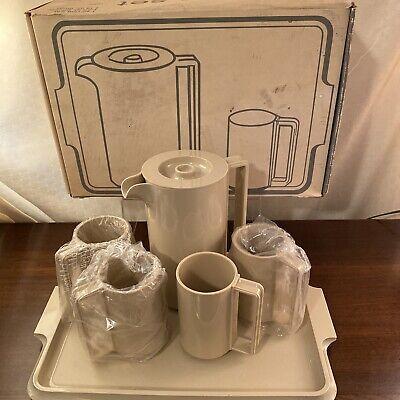 Vtg Ingrid LTD Chicago Beverage Set (Serving Tray, Pitcher, 4 Mugs) w/ Box MCM