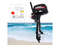 6 HP 2-Stroke Outboard Motor Boat Fishing Engine Water Cooling CDI System USA